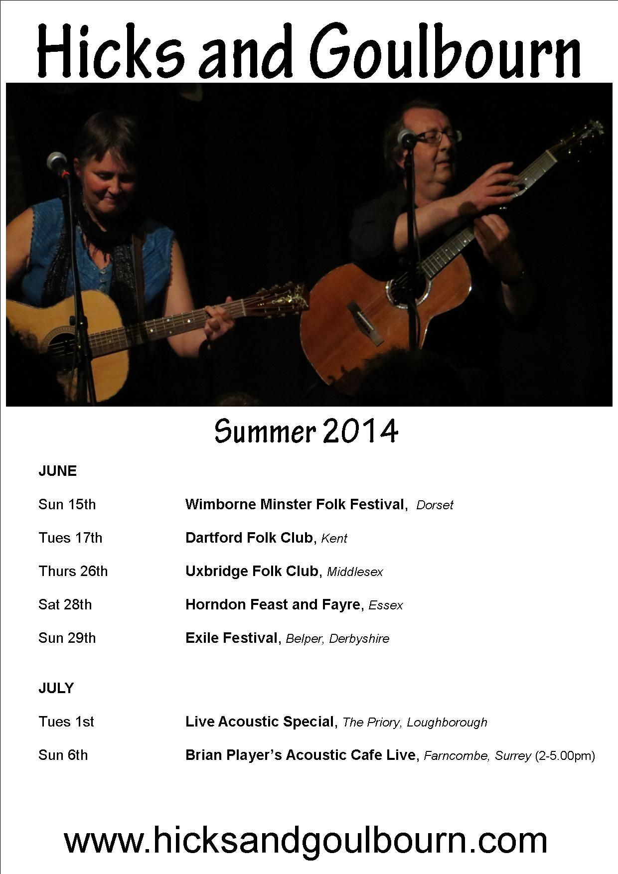 Summer 2014 gigs poster rev 110614  web poster